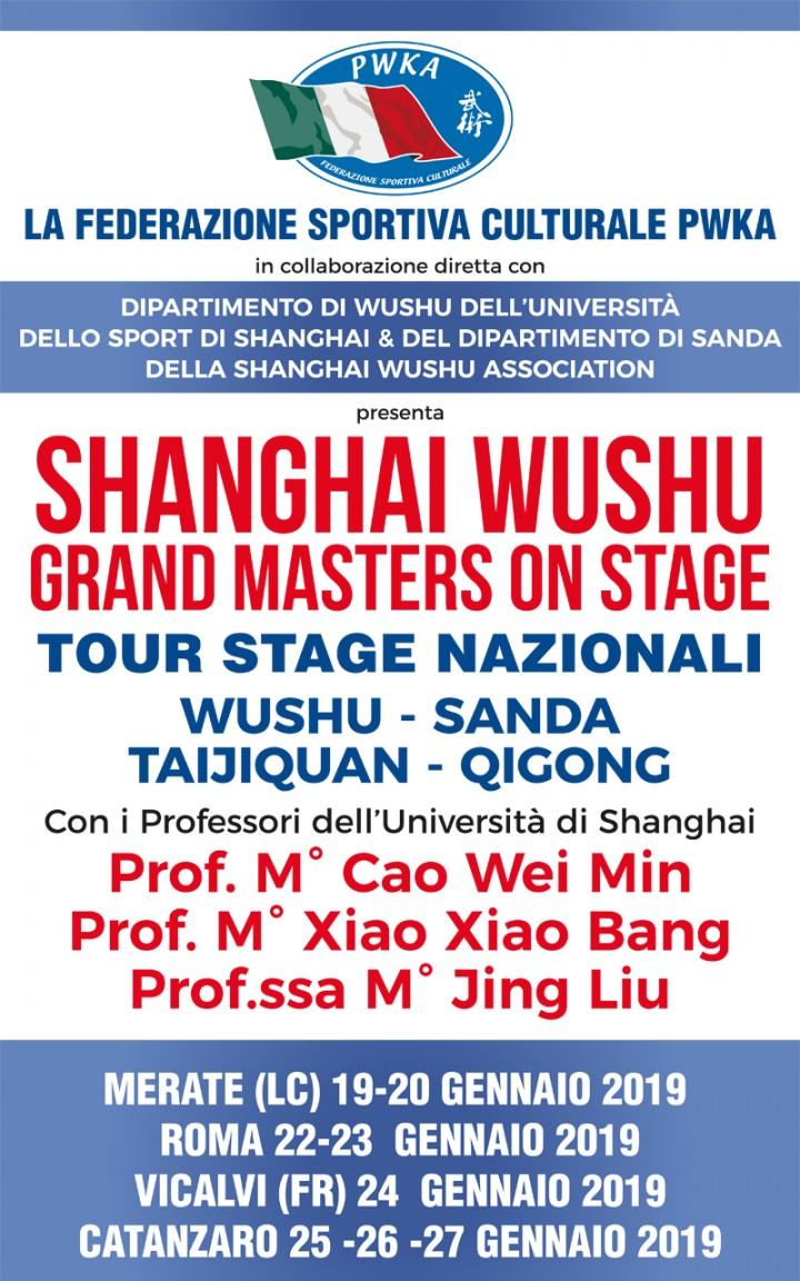 TOUR STAGE NAZIONALI WUSHU SANDA TAIJIQUAN QIGONG – SOVERATO
